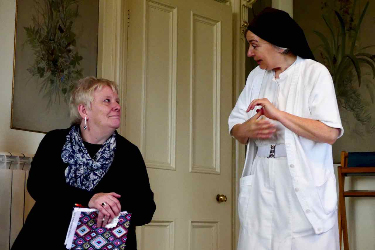 Carol Burns and Sr Margaret