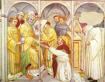 'Augustine ordaining a priest' - Gubbio, Church of St Augustine