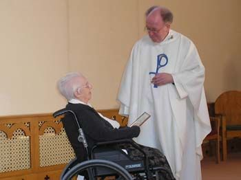 Fr Peter and resident
